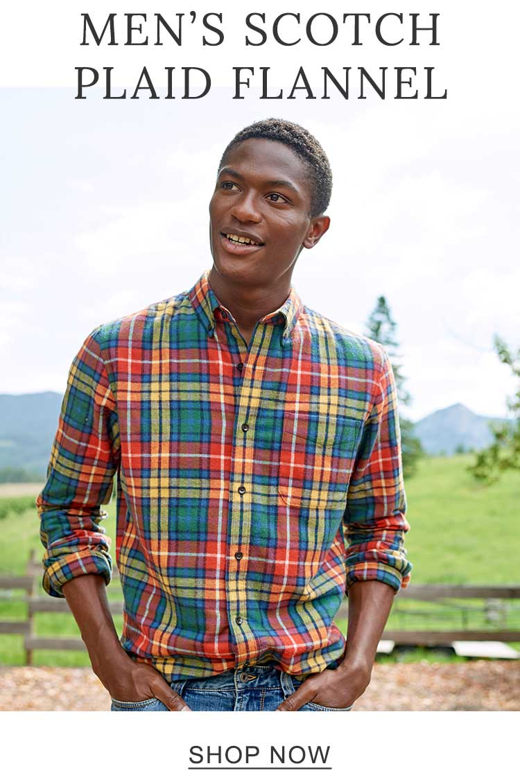 Men's Scotch Plaid Flannel.