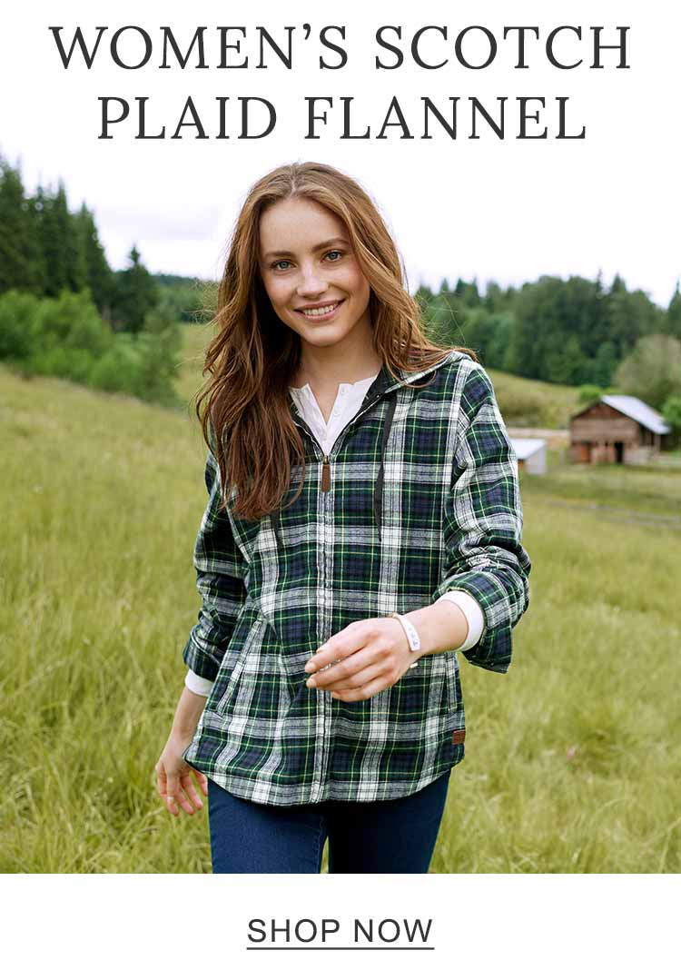 Women's Scotch Plaid Flannel.