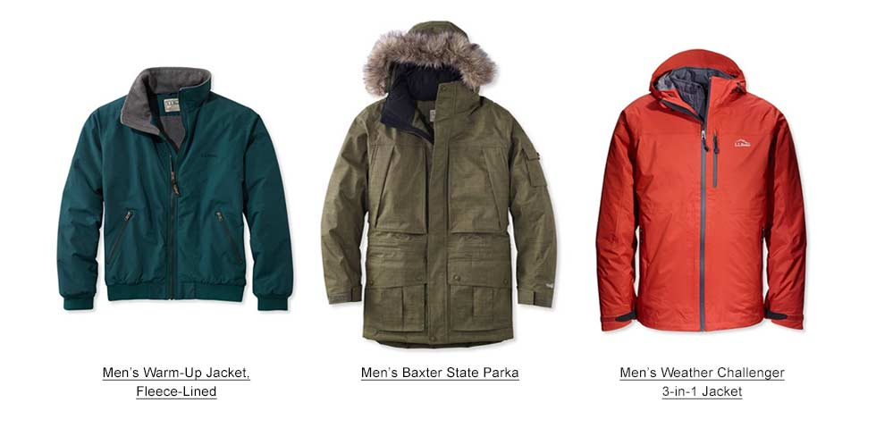 Selection of Men's Winter Coats and Jackets.