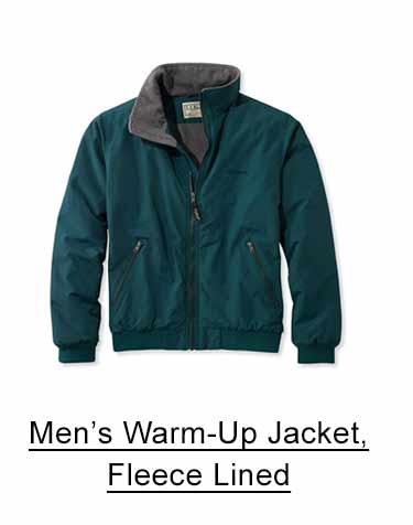 Men's Warm-Up Jacket, Fleece-Lined.