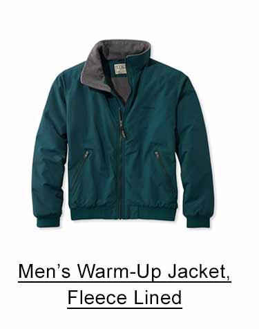 Men's Warm-Up Jacket, Fleece-Lined.