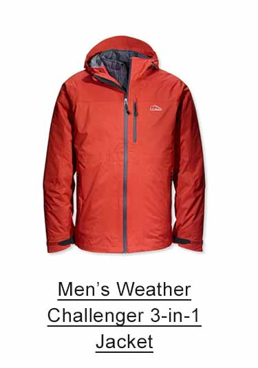 Men's Weather Challenger 3-in-1 Jacket.