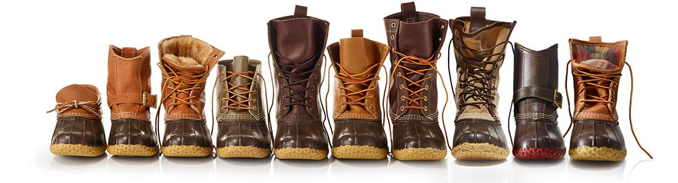 Selection of L.L.Bean Boot styles.