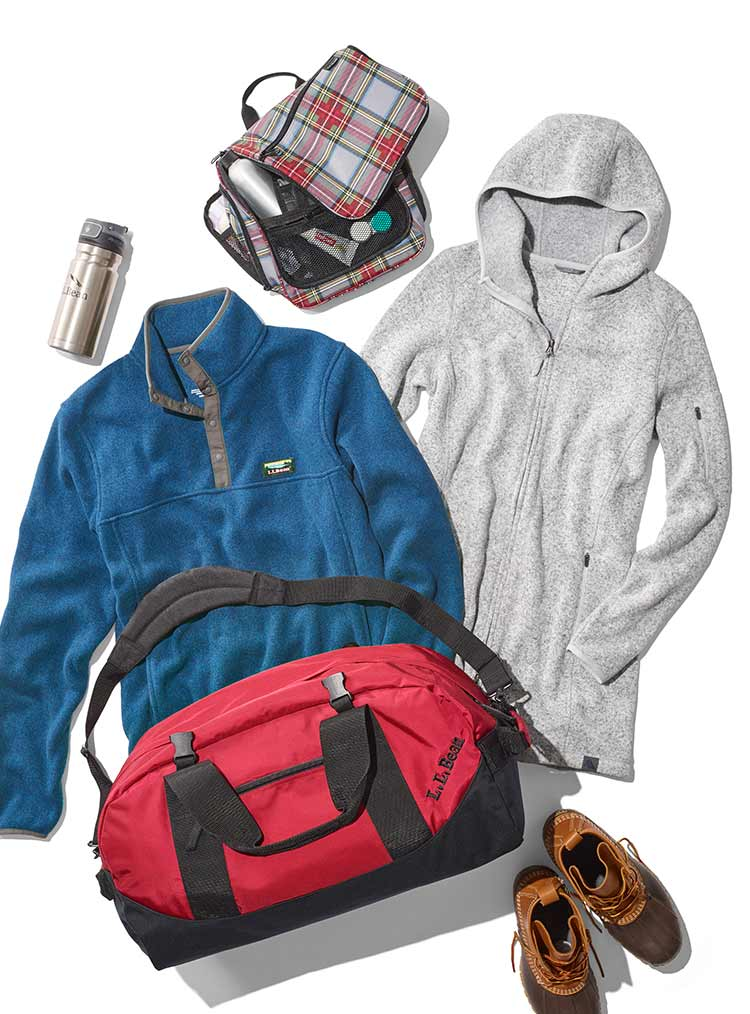 Selection of gifts for last-minute adventures.