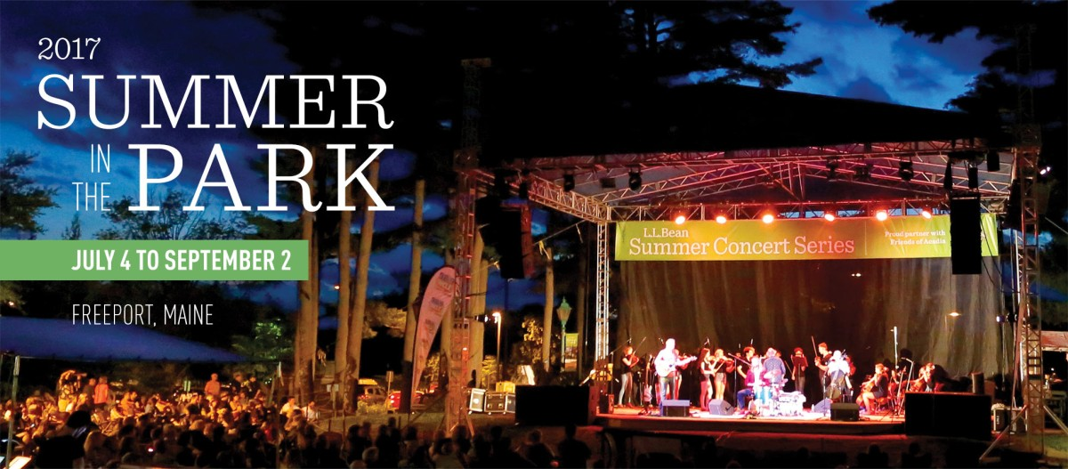 L.L.Bean 2017 Summer in the Park, July 4 to September 2, Freeport, Maine.