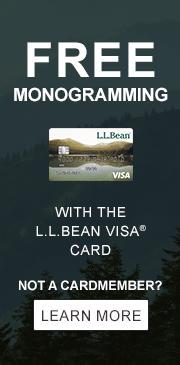 Free Monogramming with the L.L.Bean Visa Card.