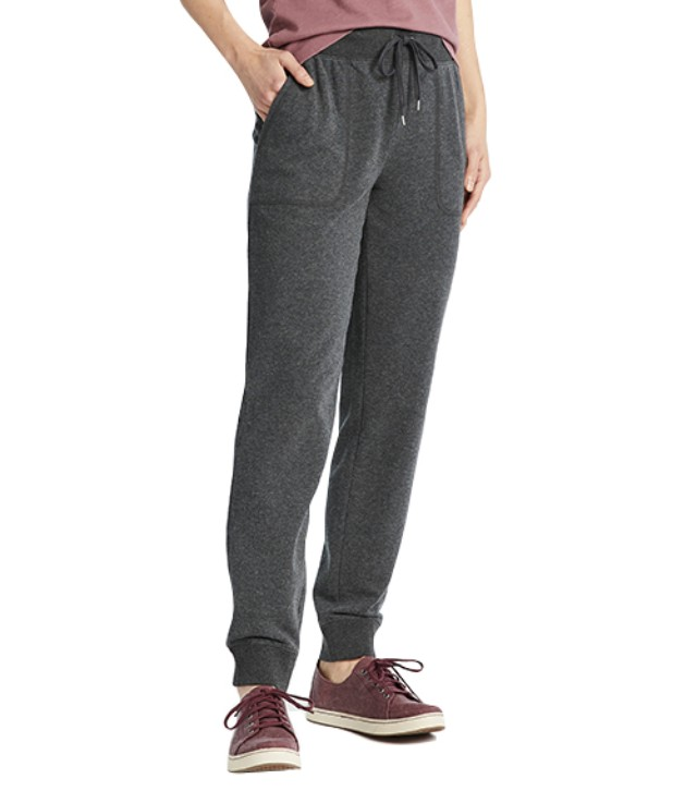 Standing model with cozy sweatpants.