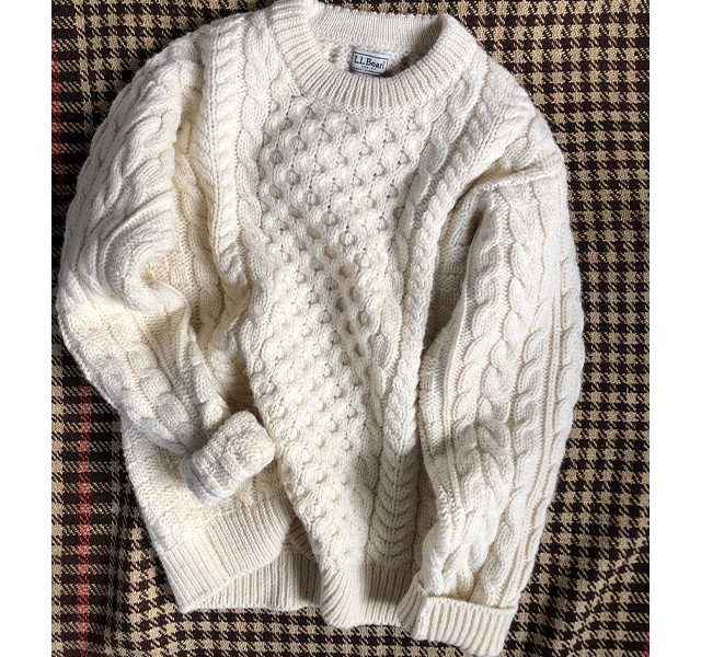 L.L.Bean Signature Cotton Fisherman's Sweater