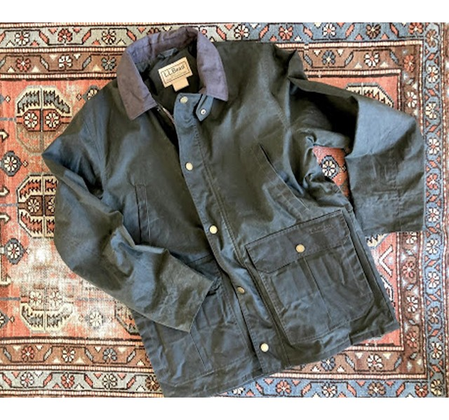 L.L.Bean Double L Waxed Cotton Upland Coat