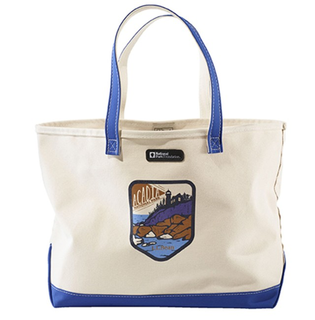 Limited-Edition Boat and Tote for The National Park Collection (featured: Acadia National Park)
