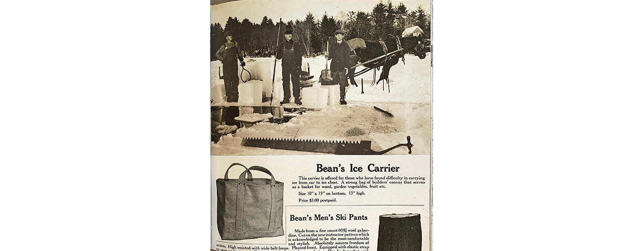 L.L.Bean Ice Carrier as featured in the 1944 Fall Catalog