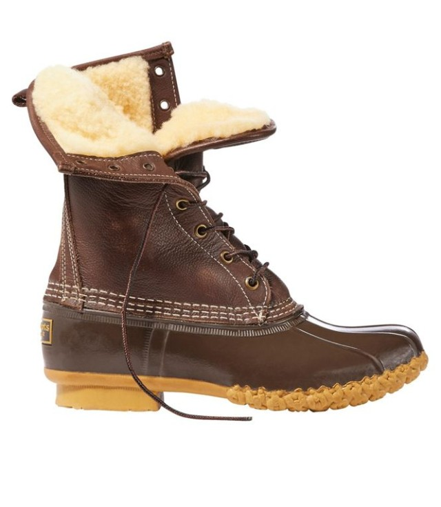 Shearling-Lined Bean Boot