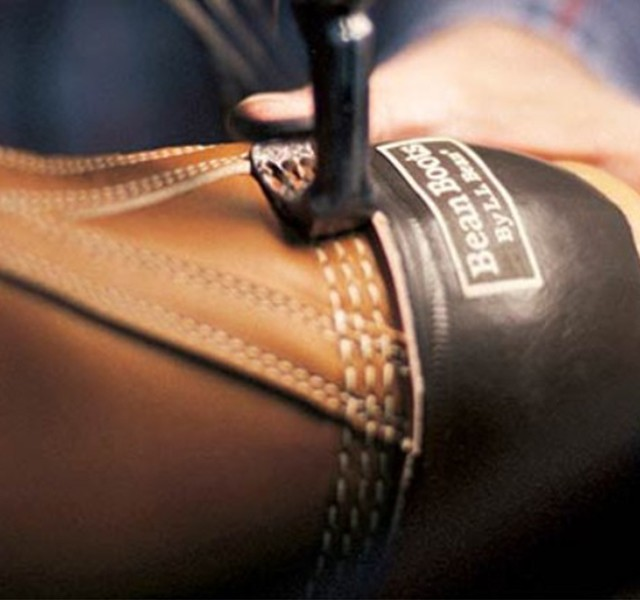 The triple-stitch is a trademark of L.L.Bean Boots. Our stitchers are trained for 26 weeks to master the technique.