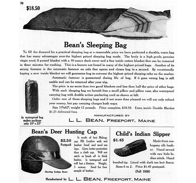 Bean's Sleeping Bag, circa 1928