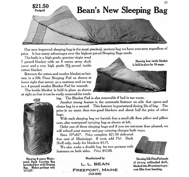 Bean's Sleeping Bag, circa 1929