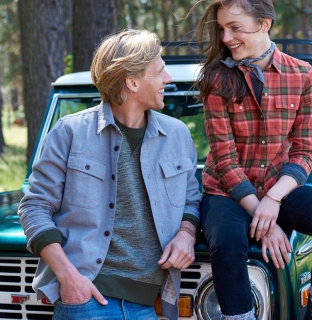 2020 L.L.Bean Chamois Shirt - Man and woman smiling in the outdoors