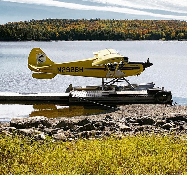 Float Plane in Maine North Woods