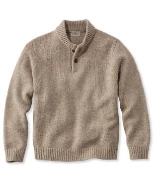 Men's Classic Ragg Wool Henley Sweater