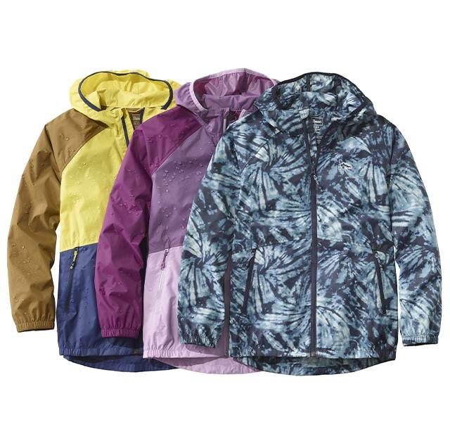 L.L.Bean Kids' Wind and Rain Jackets