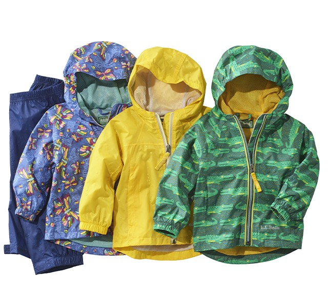 Kids' Rain Jackets and Pants