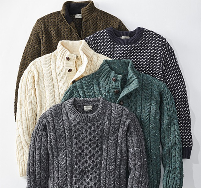 Assortment of Fisherman's Sweaters