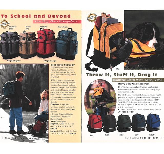 1999 Continental Rucksack in the L.L.Bean Catalog
