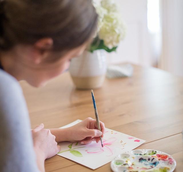 Sara Fitz Painting. Photo Credit: Brea McDonald