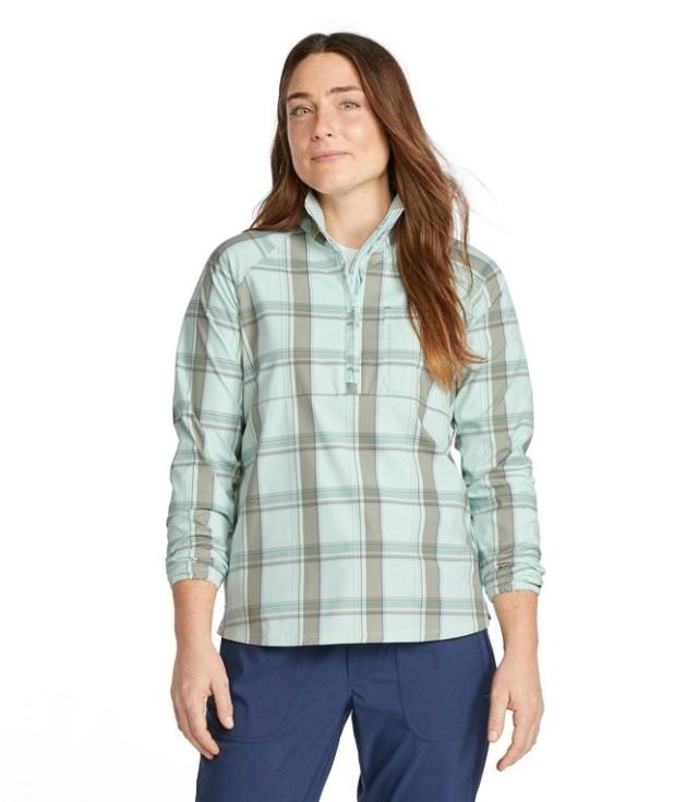 SunSmart™ Shirt, Quarter-Zip Pullover Plaid