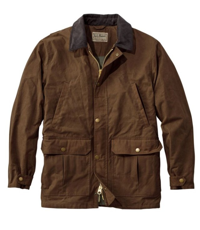 L.L.Bean Double L Waxed-Cotton Upland Coat