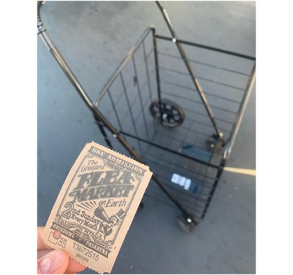 Flea Market Ticket and Cart